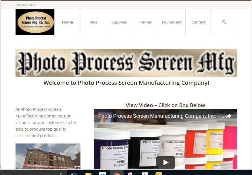 Photo Process Silk Screens and Supplies